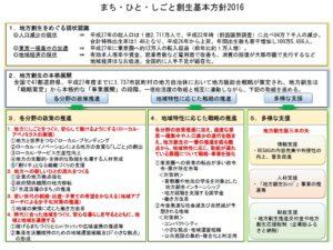 まち・ひと・しごと創生基本方針2016